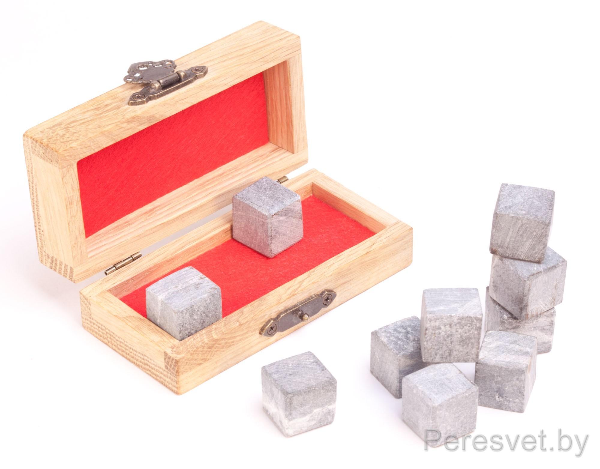 Камни для виски 10шт в Дубовой шкатулке Карельский ледник на peresvet.by