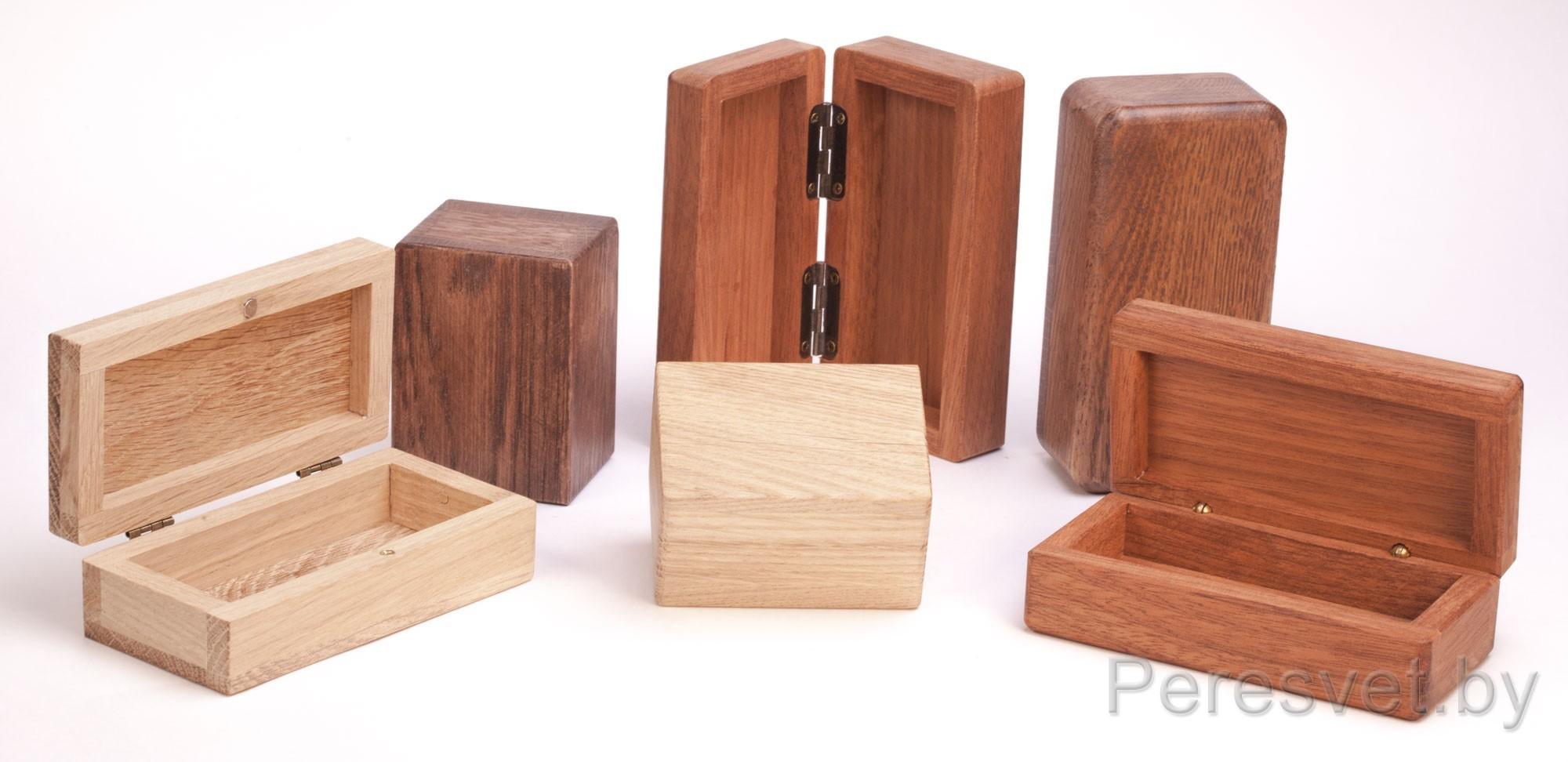 Шкатулки из ценных пород дерева под любой размер с логотипом на peresvet.by