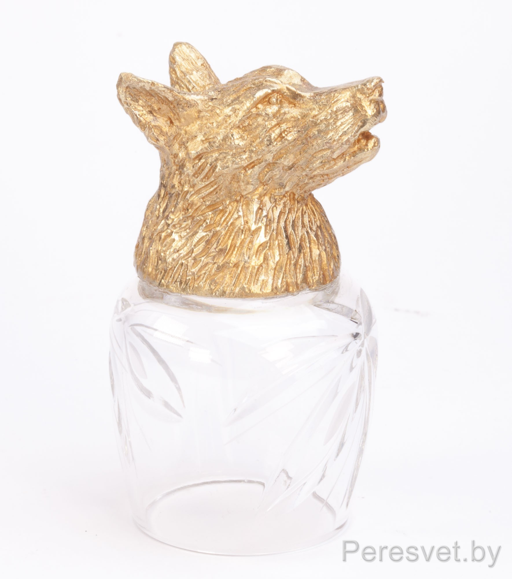 Рюмка перевертыш Охотничьи трофеи Волк hunting glasses Бронза(золото) на peresvet.by