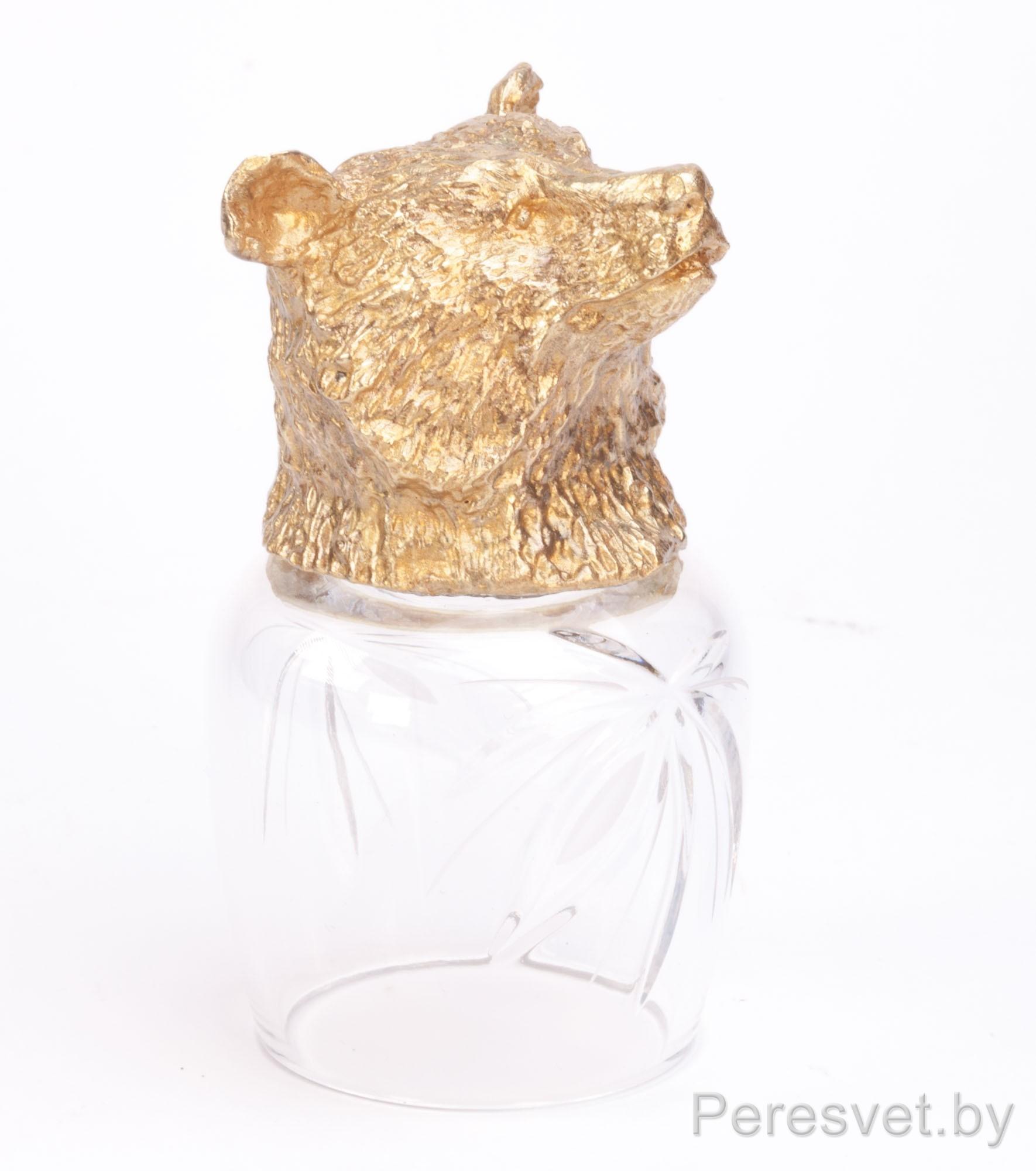 Рюмка перевертыш Охотничьи трофеи Медведь hunting glasses Бронза(золото) на peresvet.by