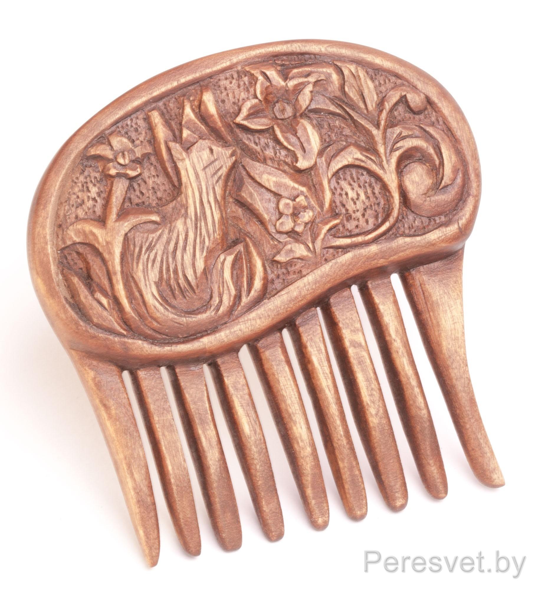 Гребни для волос деревянные женские ручной работы на peresvet.by