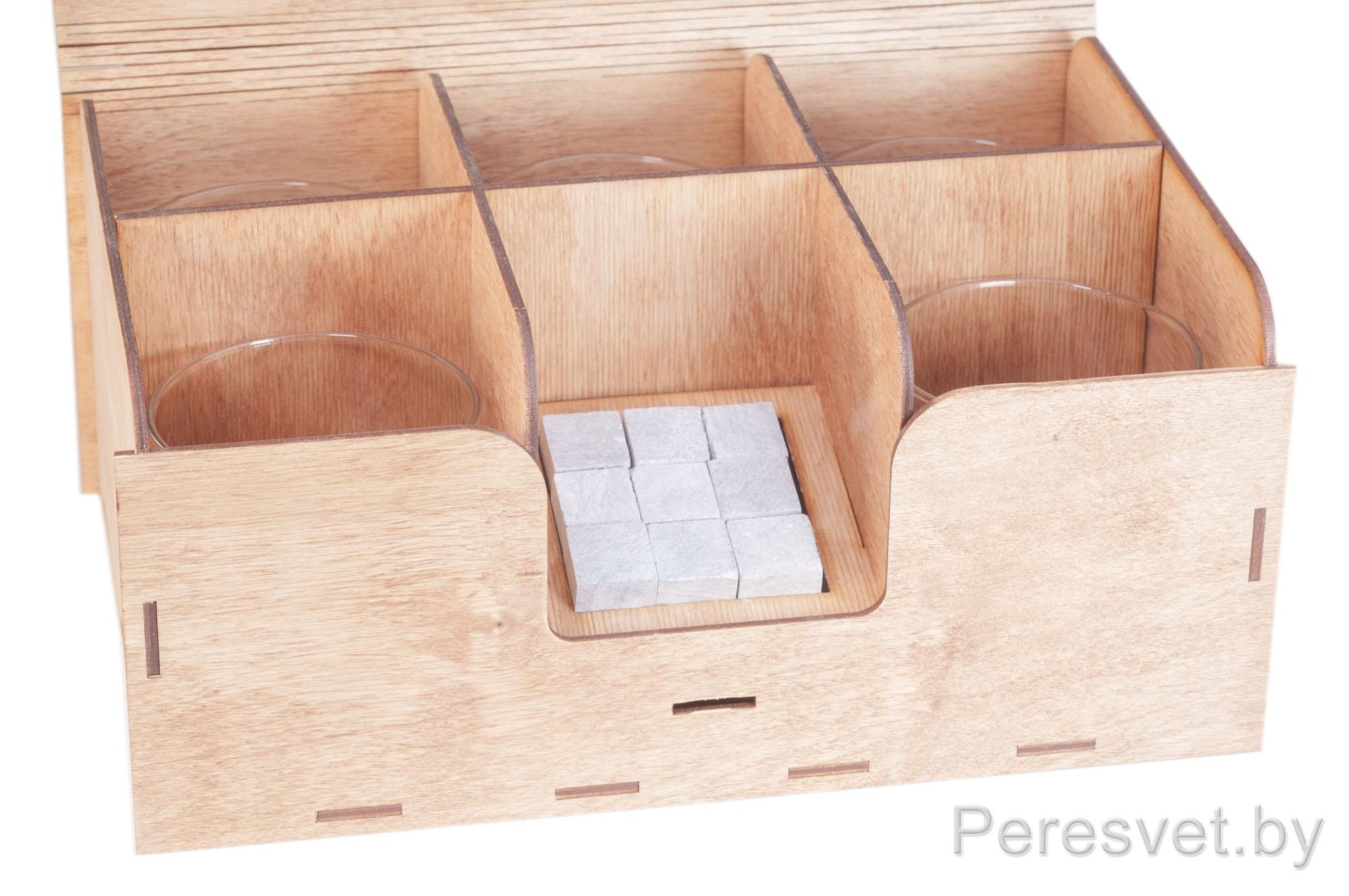 Подарочный набор Камни для виски 9шт с 5 стаканами Резерфорд на peresvet.by