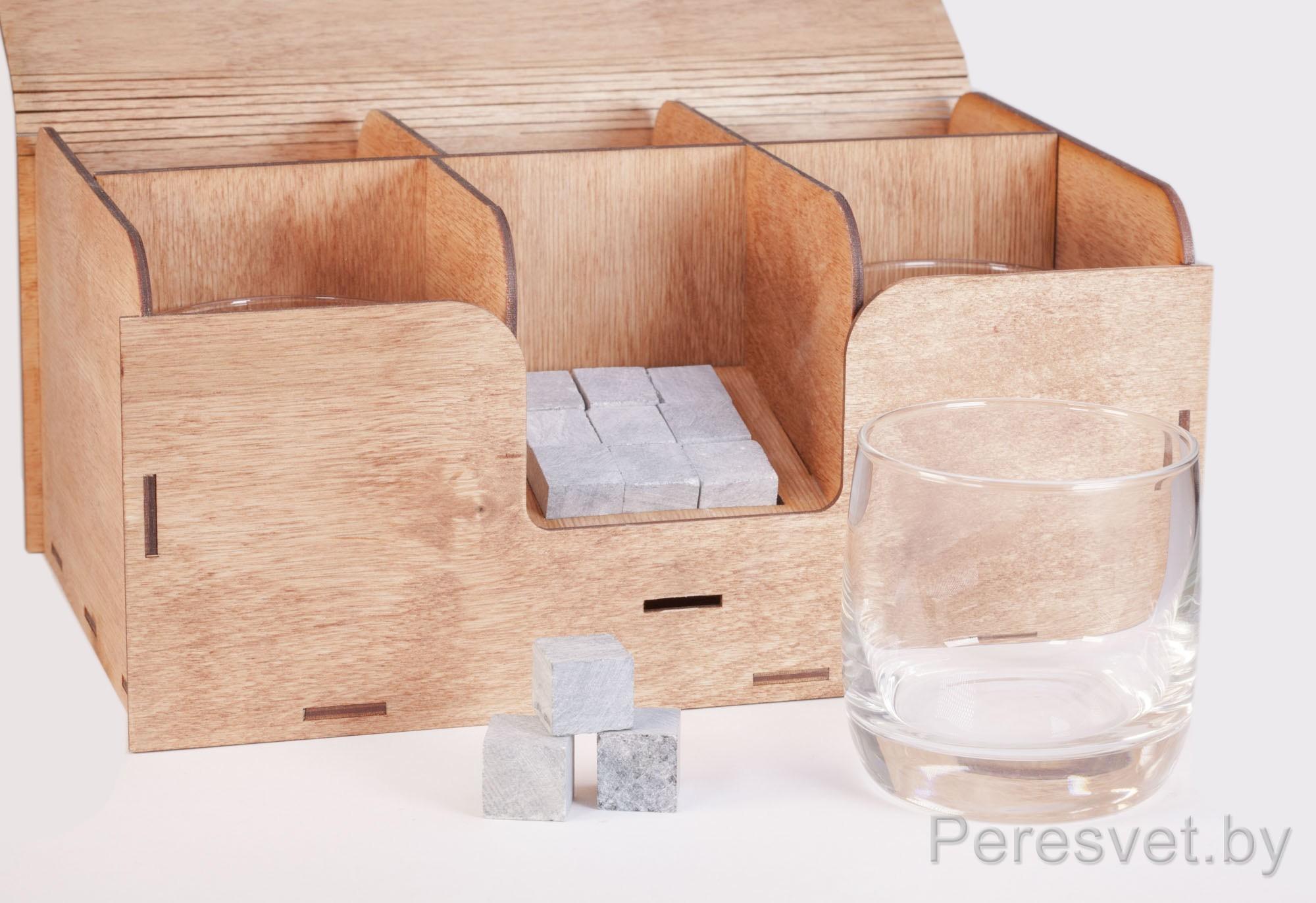 Подарочный набор Камни для виски 9шт с 5 стаканами Черчиль на peresvet.by