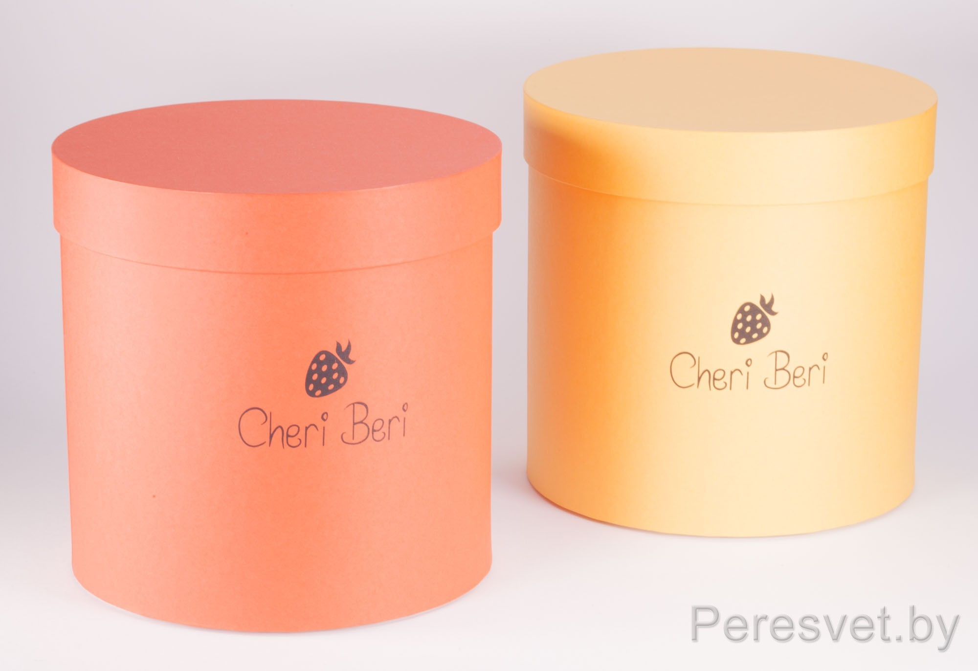 Подарочная упаковка шляпница с логотипом опт на peresvet.by