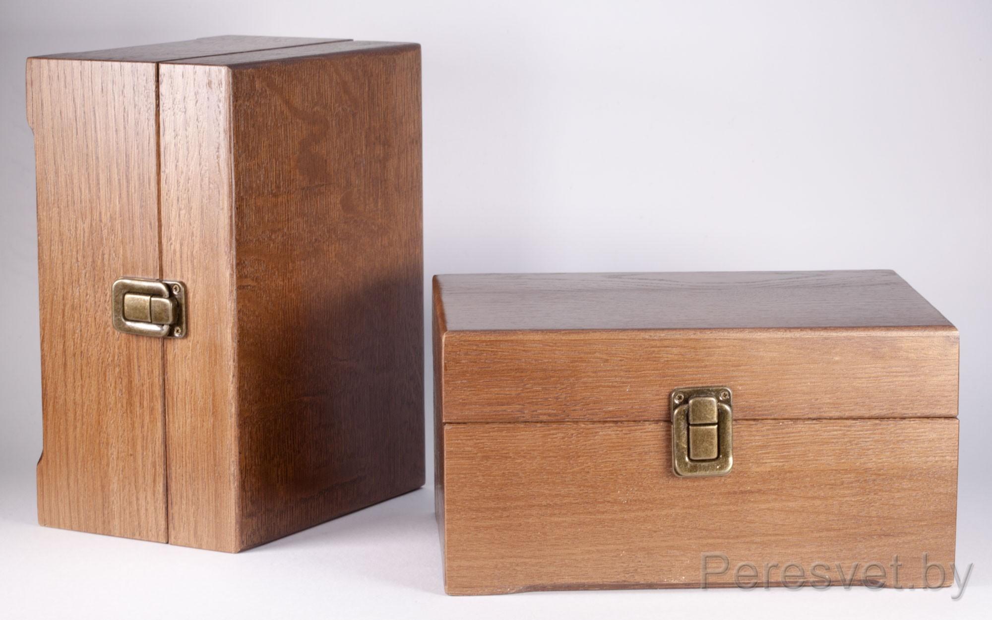 Дубовая упаковка сундук для элитных подарков на peresvet.by