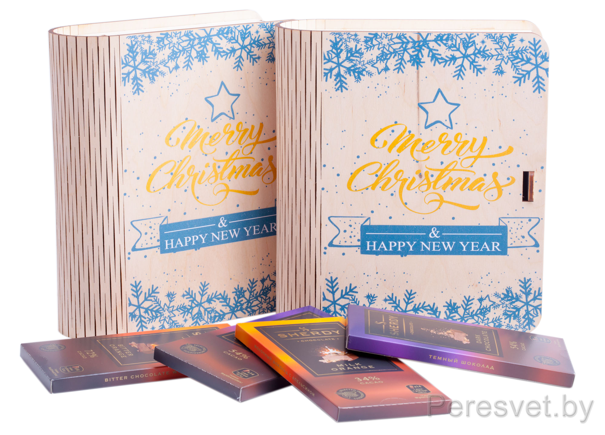 Корпоративный подарок под конфеты Merry Christmas на peresvet.by