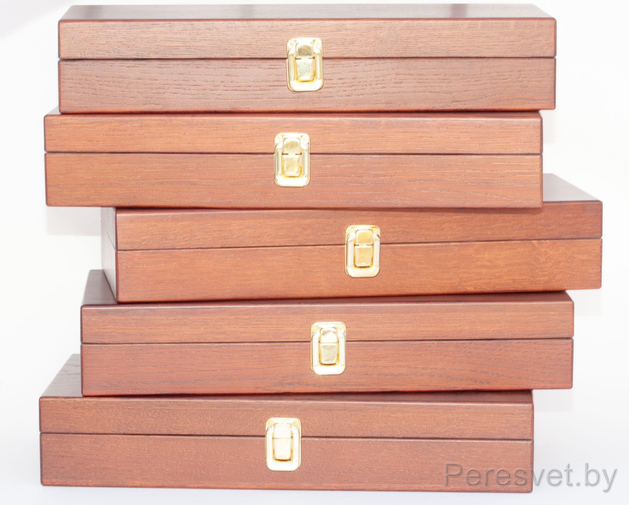 Коробка дубовая для ножей Мартини на peresvet.by