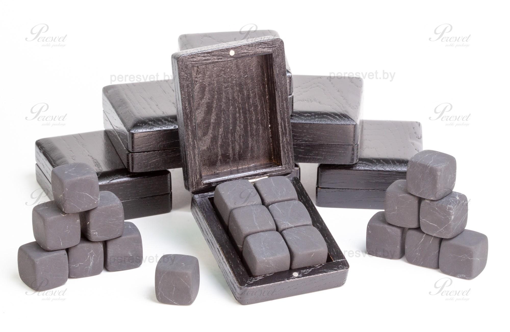 Камни для виски в дубовой упаковке шунгит на peresvet.by