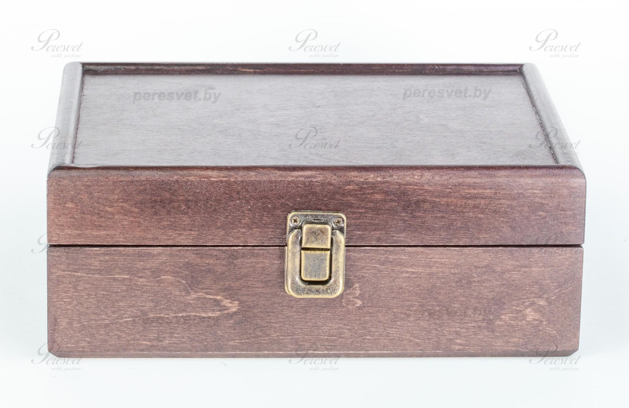 Коробка для чайных пакетиков массив березы стандартная венге на peresvet.by