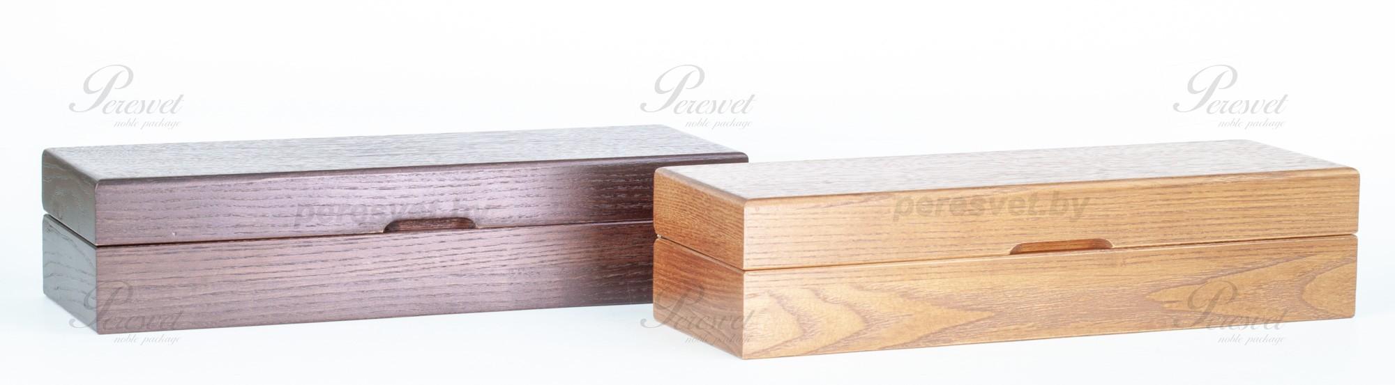 Элитная дубовая коробка для премиальных ножей венге на peresvet.by