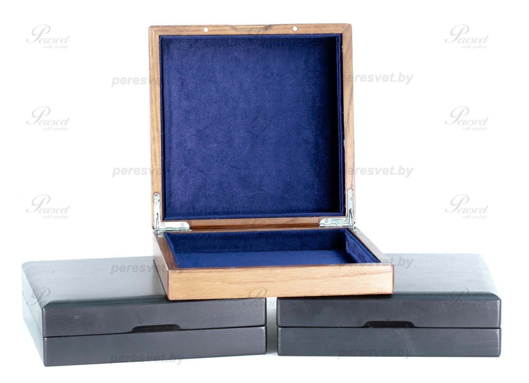 Премиальная упаковка Массив дуба под лаком с ложементом черный на peresvet.by