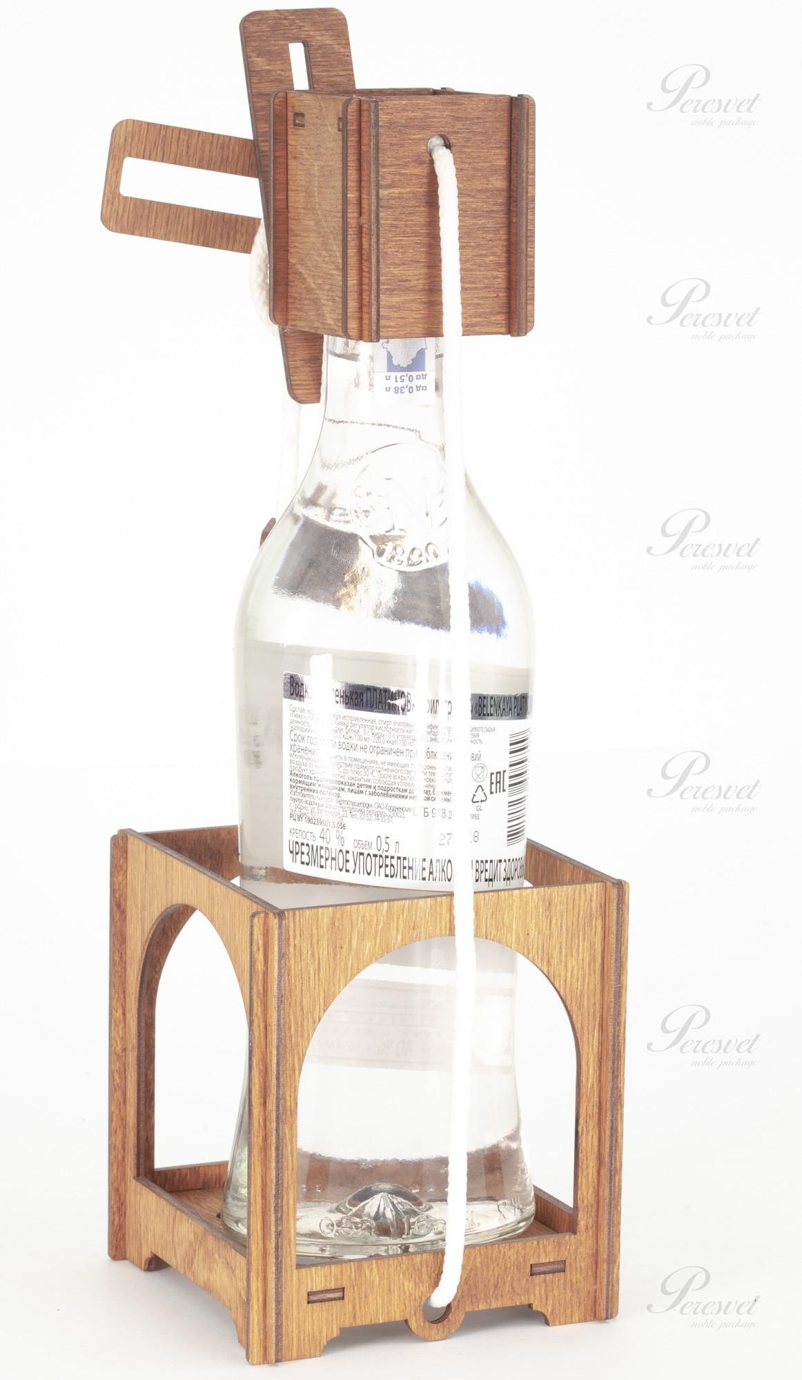 Деревянная головоломка на бутылку на perevet.by