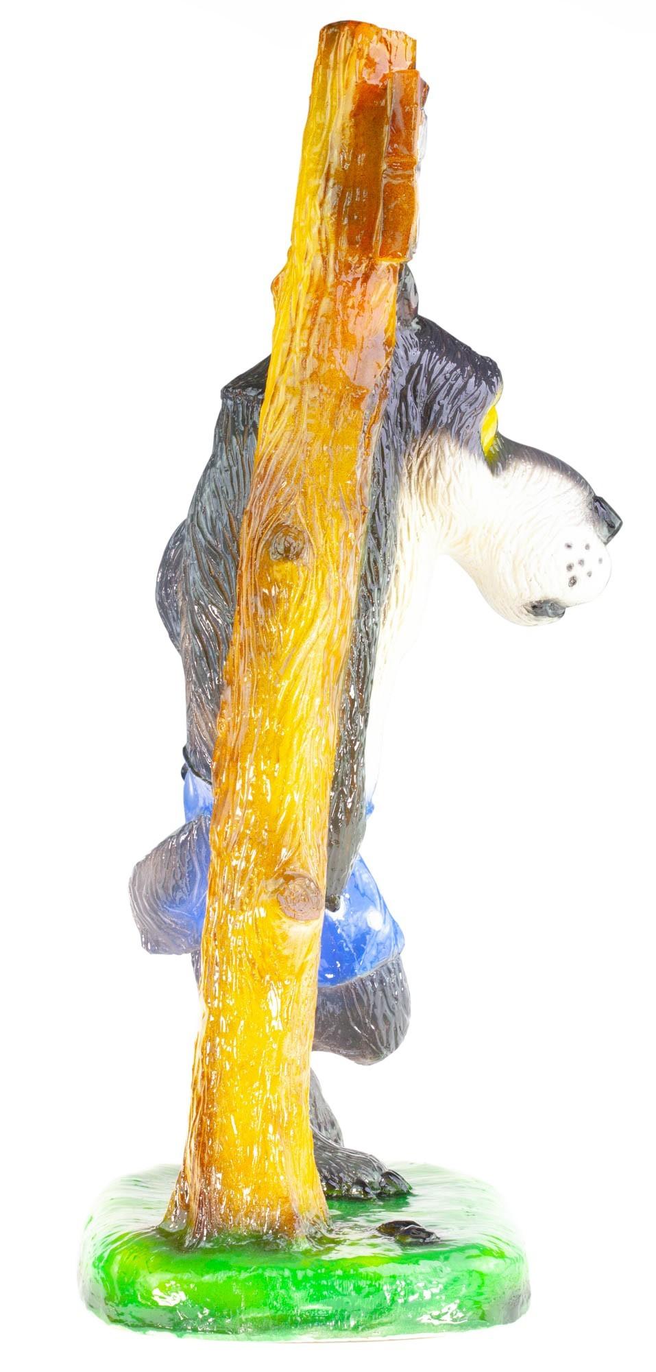 """Садовая фигура Серый волк """"Ты это, заходи если ЧЁ"""" на peresvet.by"""