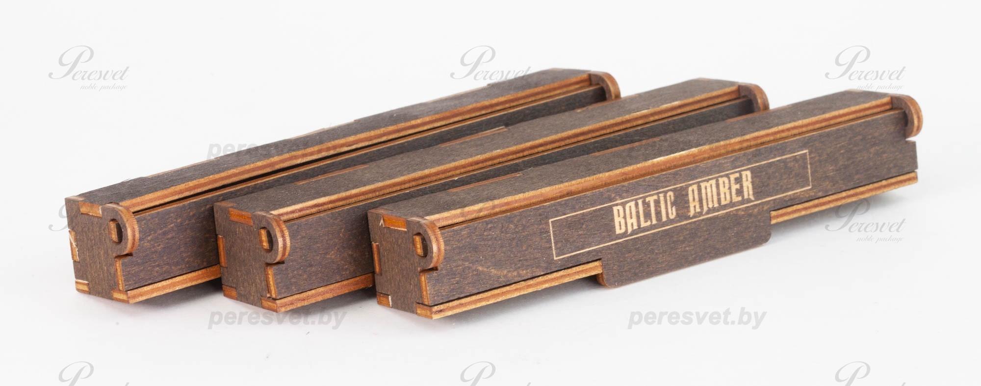 Деревянная коробка для ручки с логотипом на peresvet.by