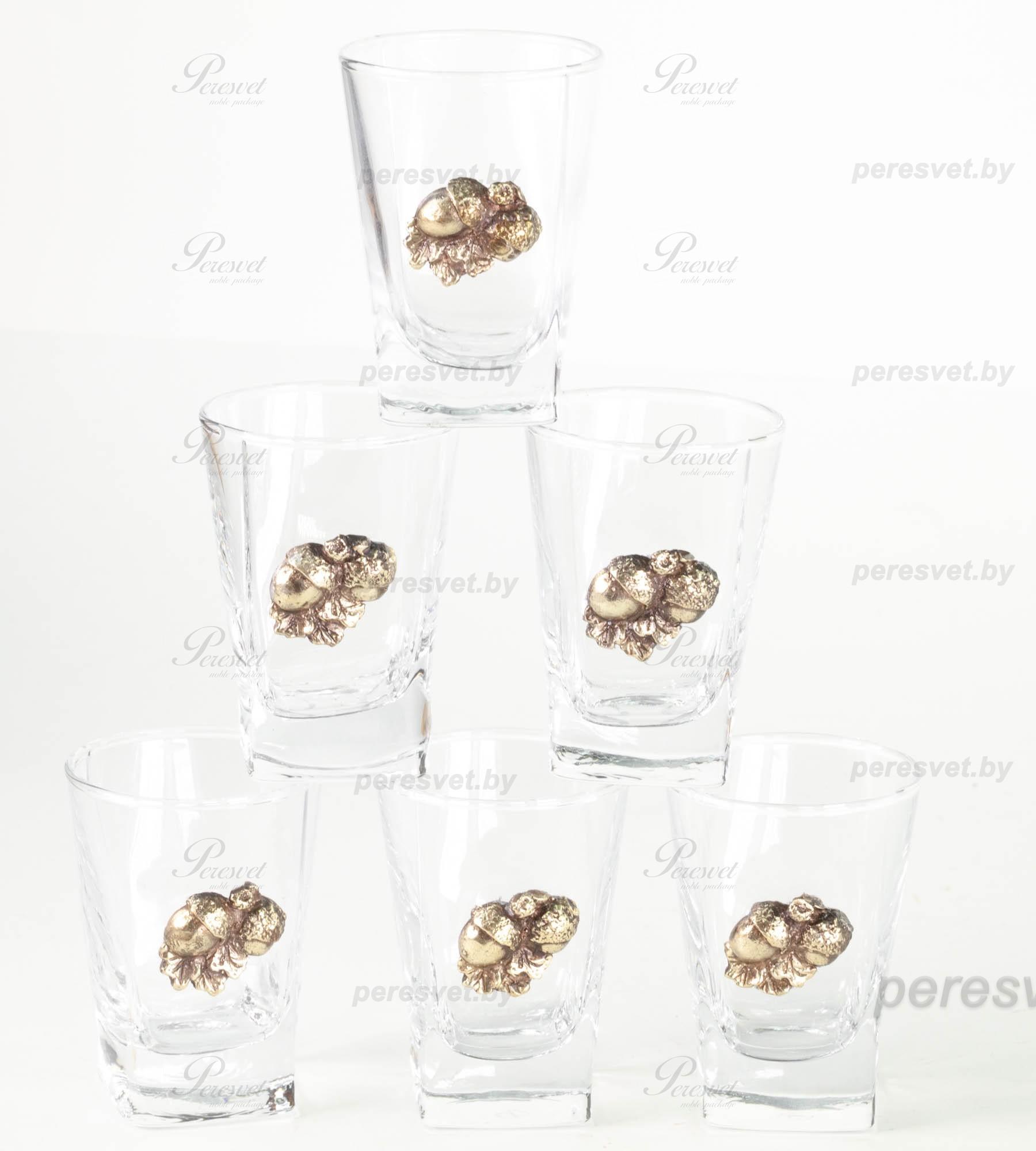 Бутылка и шесть рюмок с элементами художественного литья Коньячный набор на peresvet.by