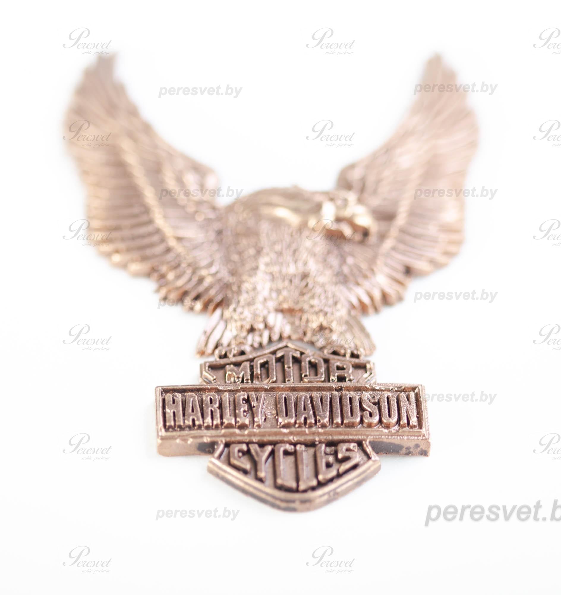 Символ HARLEY-DAVIDSON художественное литьё из бронзы на peresvet.by