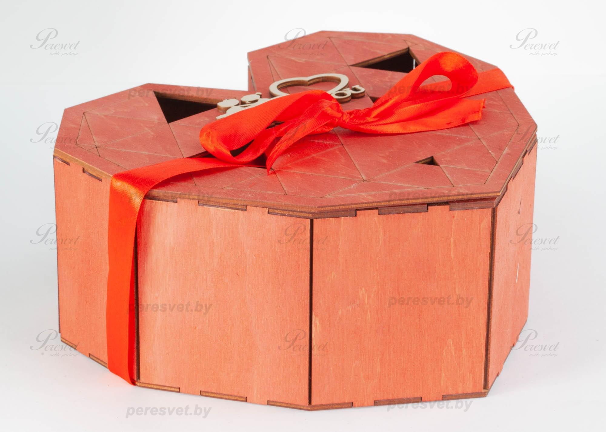 Коробка подарочная Сердце для любимой красное на peresvet.by