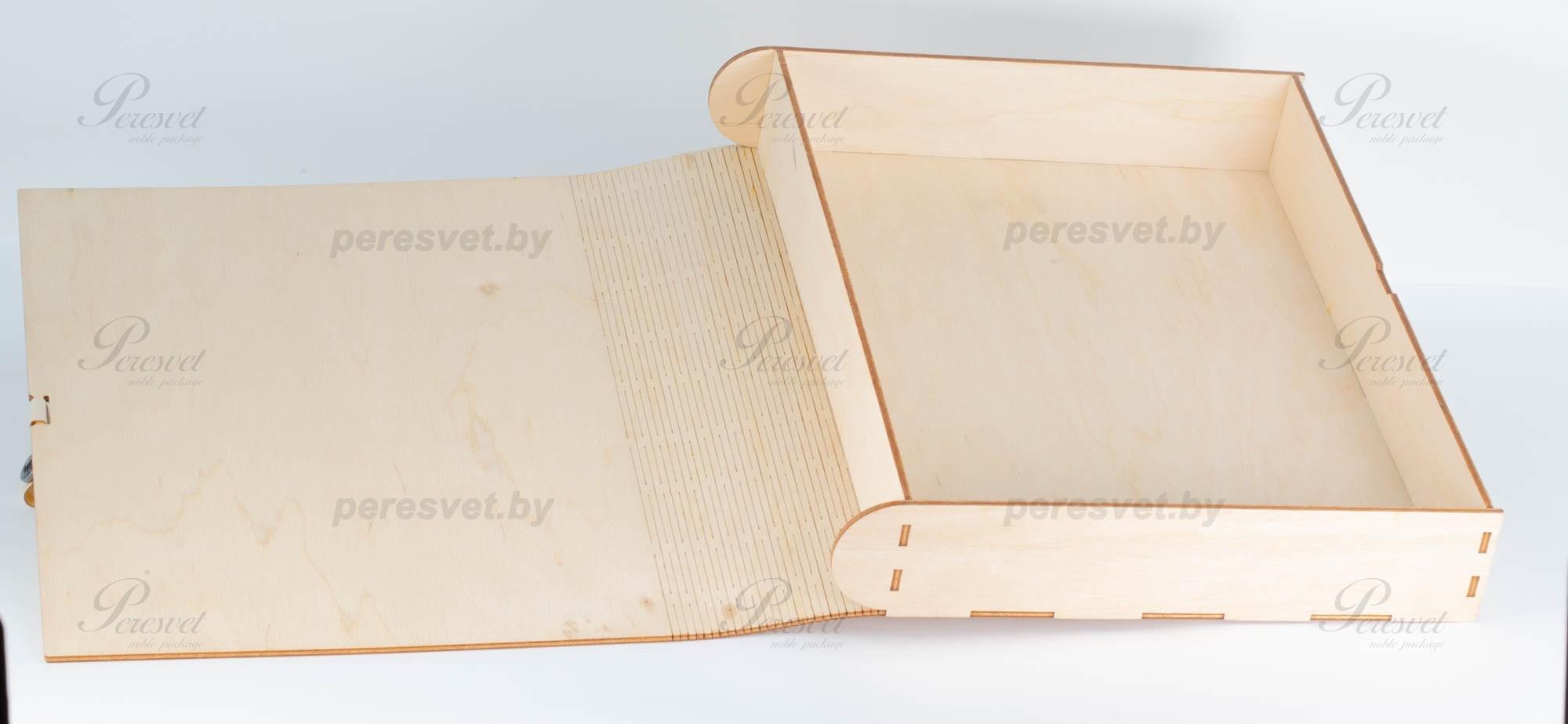 Деревянная упаковка под книгу на застежке на peresvet.by