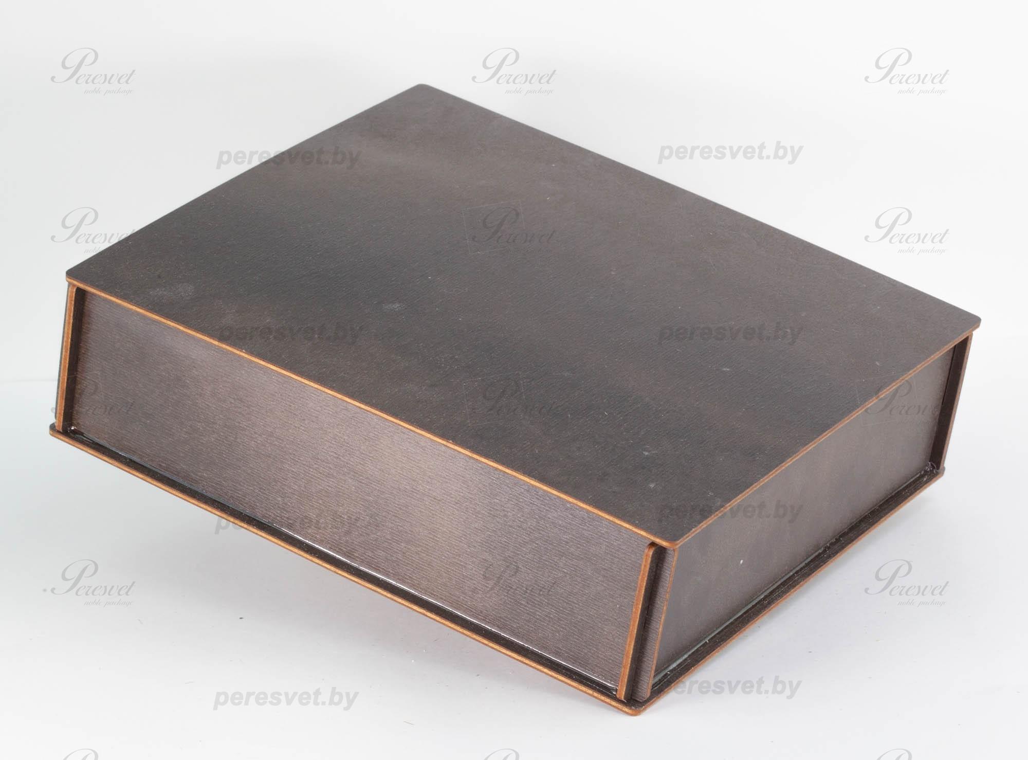 Коробка из дерева Посылка для презента венге на peresvet.by