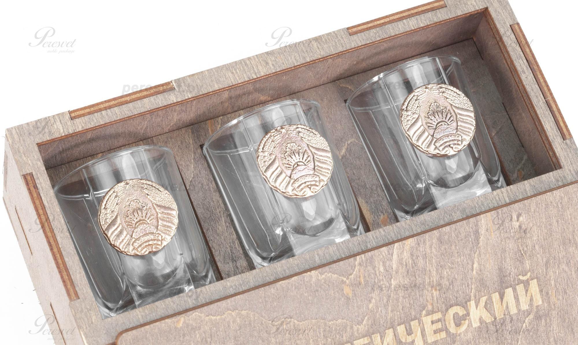 Подарочный набор для мужчин Стратегический запас №1-6 с элементами бронзы на peresvet.by