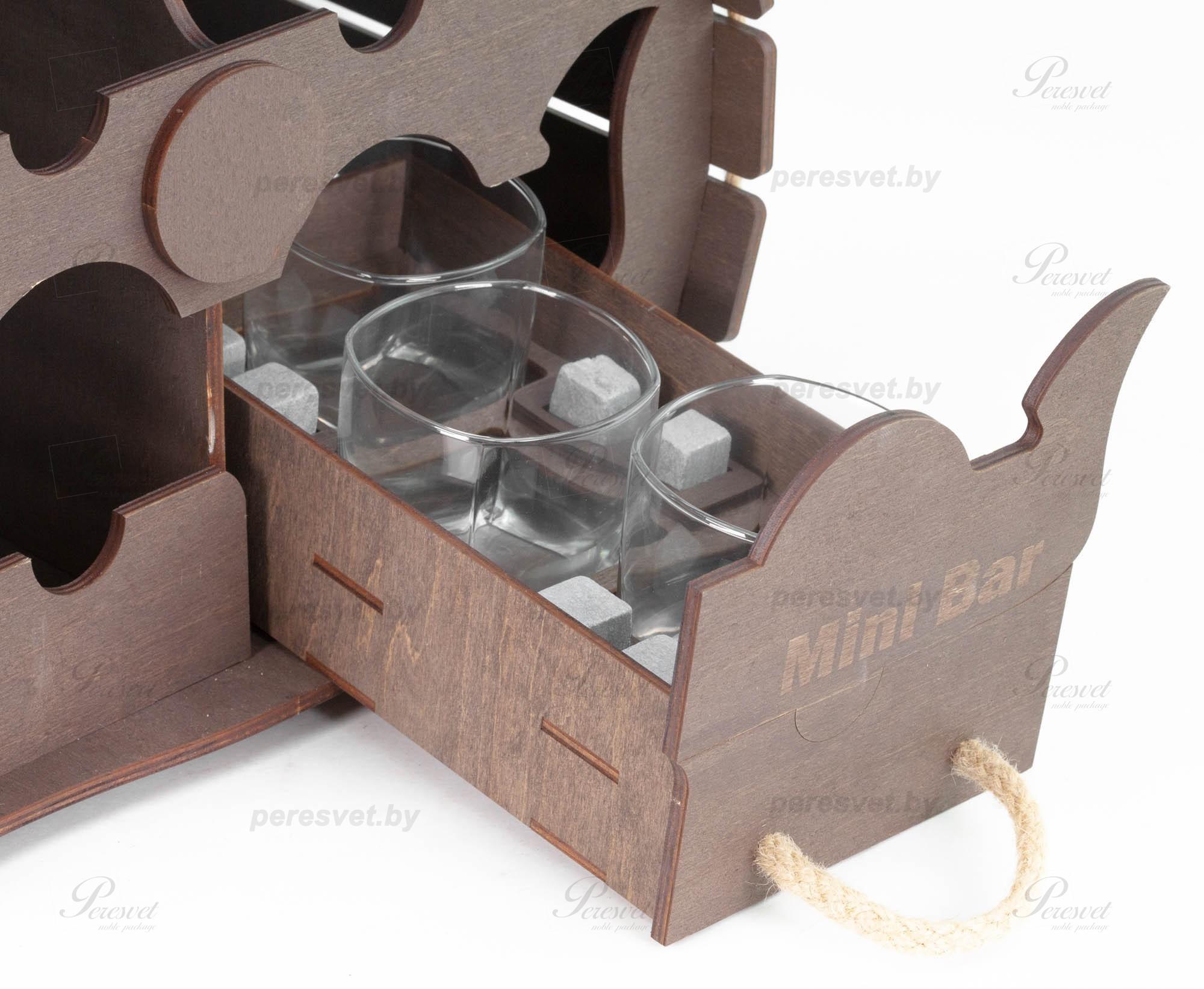 Мини бар бочка На троих настольная шоколад на peresvet.by