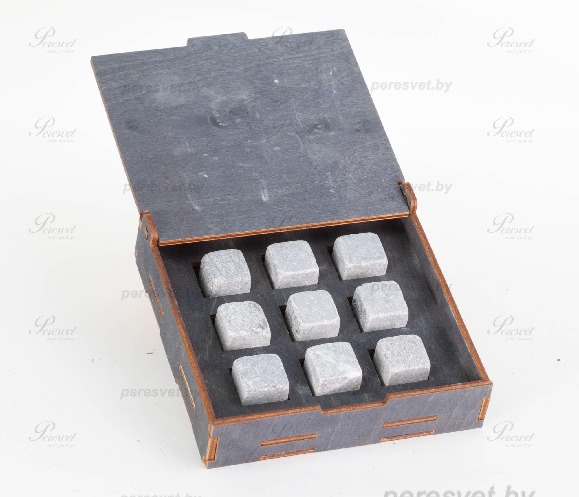 Элитный набор камней для Whiski в деревянной коробке на peresvet.by