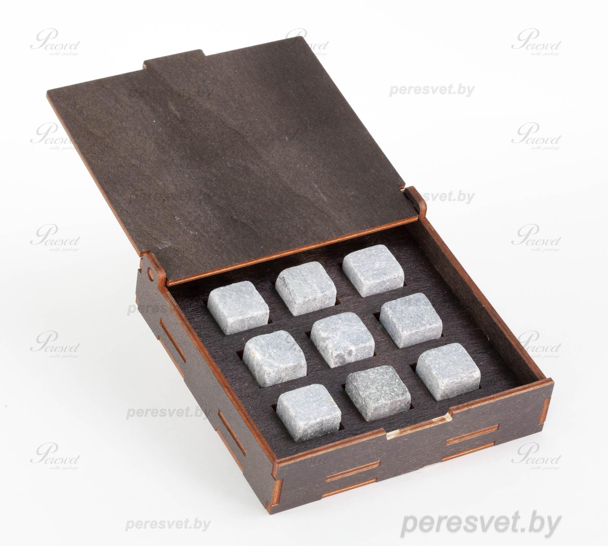 Премиальный набор камней для виски в деревянной коробке на peresvet.by