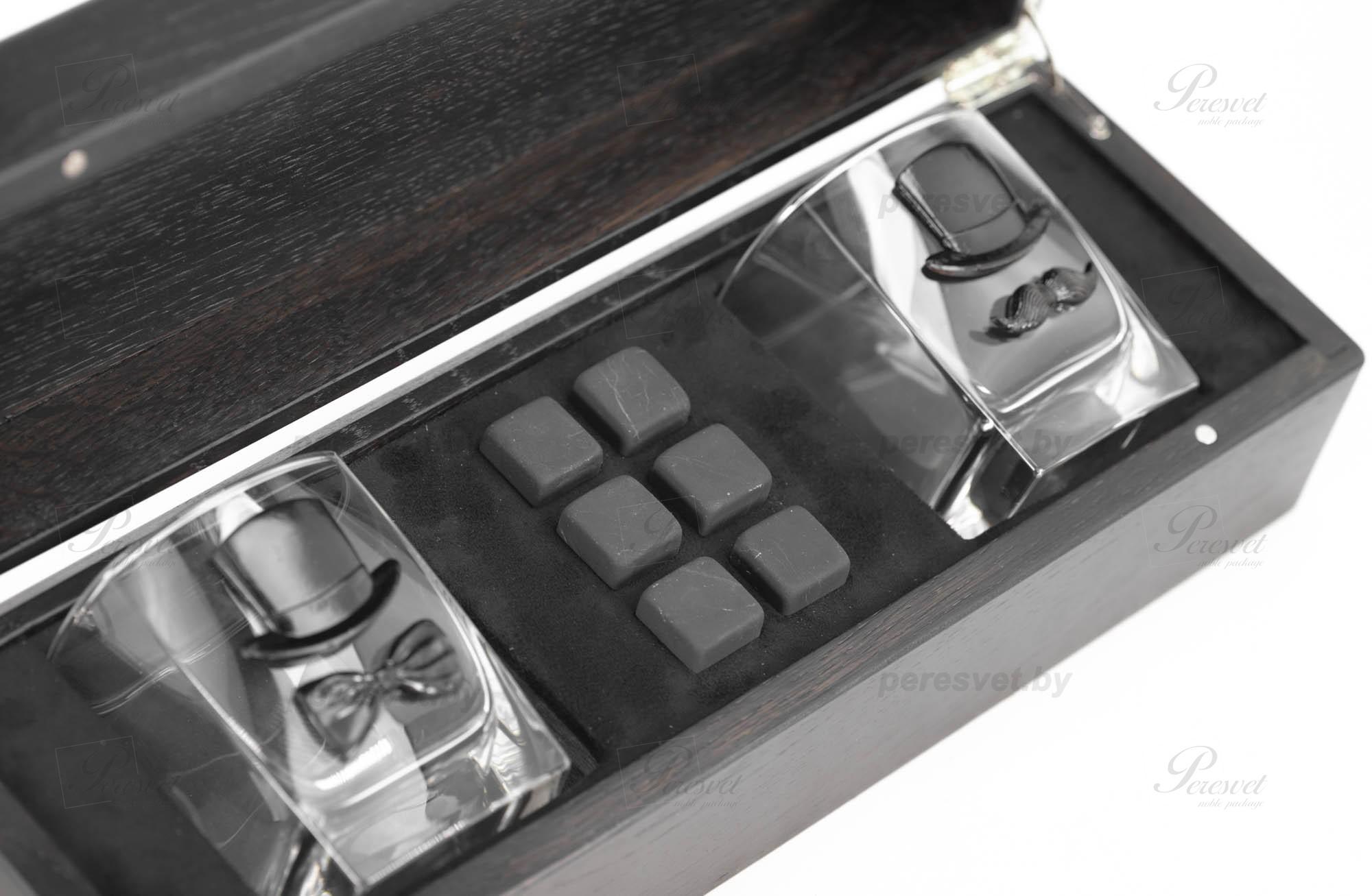 Набор подарочный Total Black Premium бронза с камнями для виски шунгит темный на peresvet.by