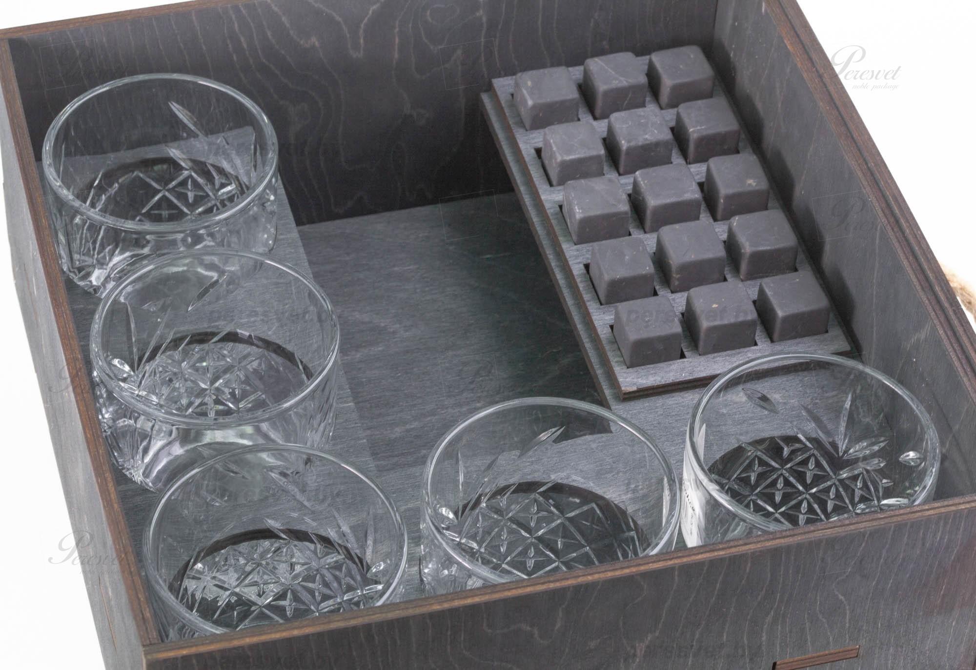 Мини бар бочка Диоген Элит без гравировки с камнями для виски Шунгит на peresvet.by