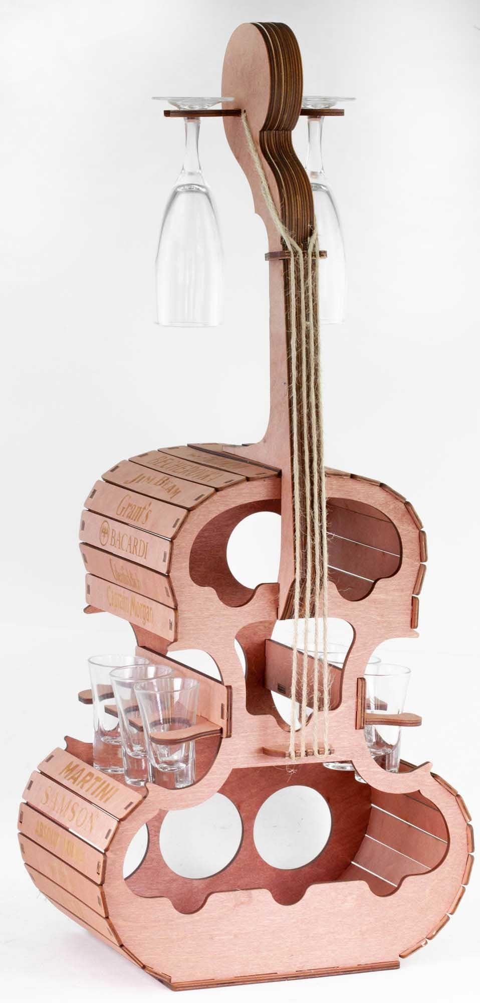 Мини бар Виолончель деревянная с гравировкой на peresvet.by