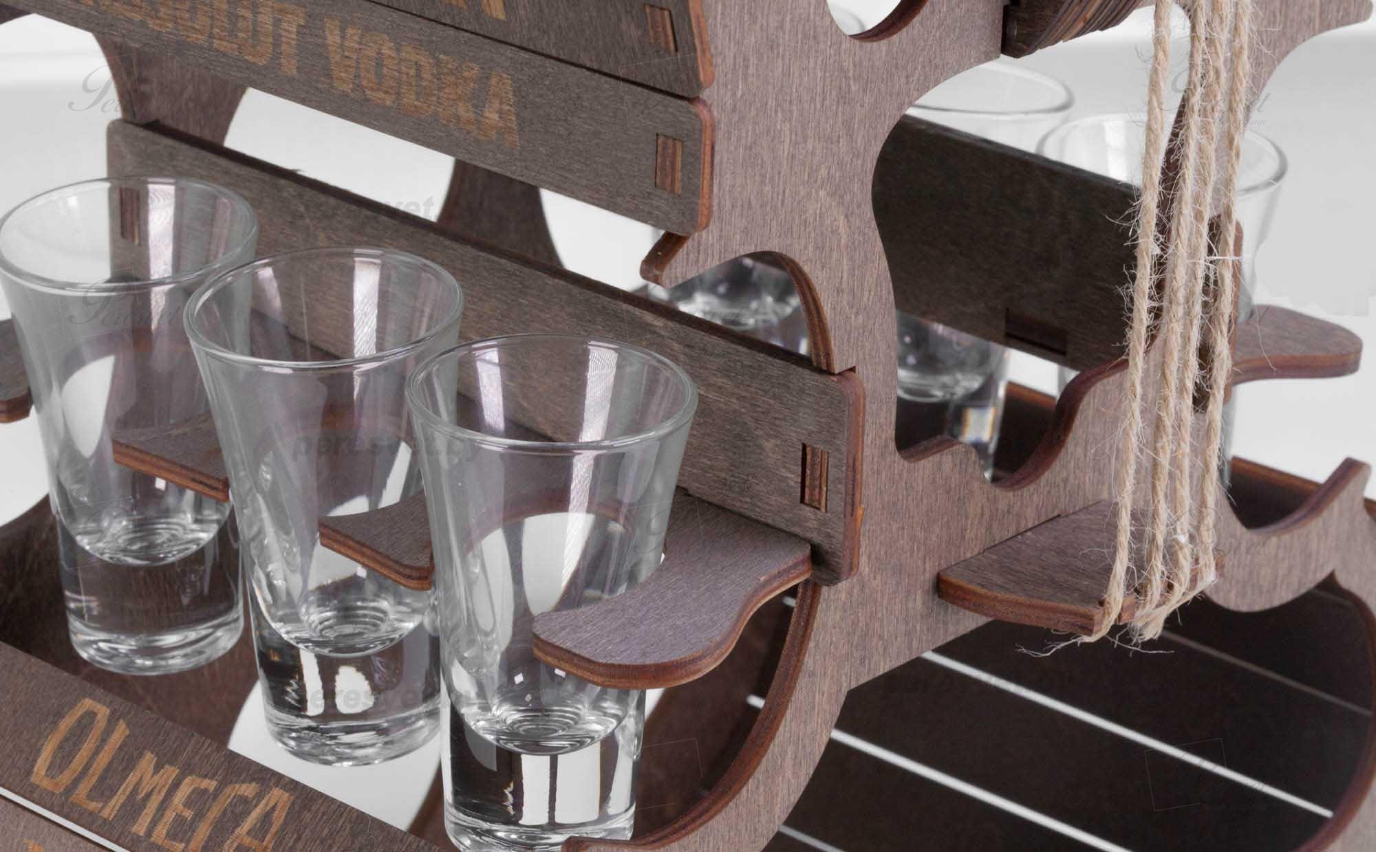 Мини бар Виолончель деревянная с гравировкой темная на peresvet.by