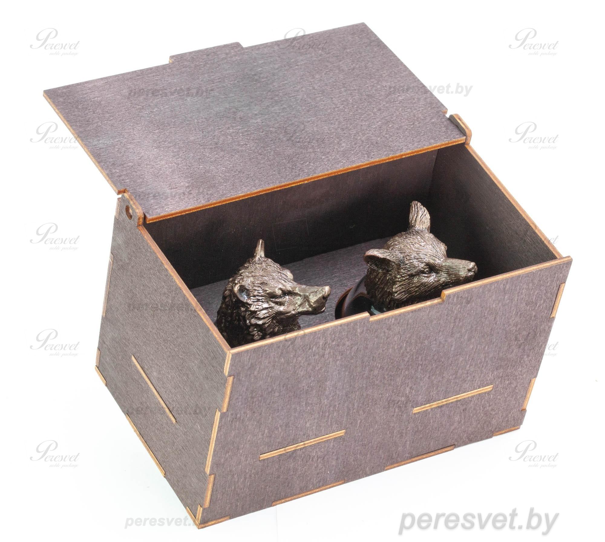 Набор рюмок перевертышей Pair Premium в деревянной шкатулке на peresvet.by