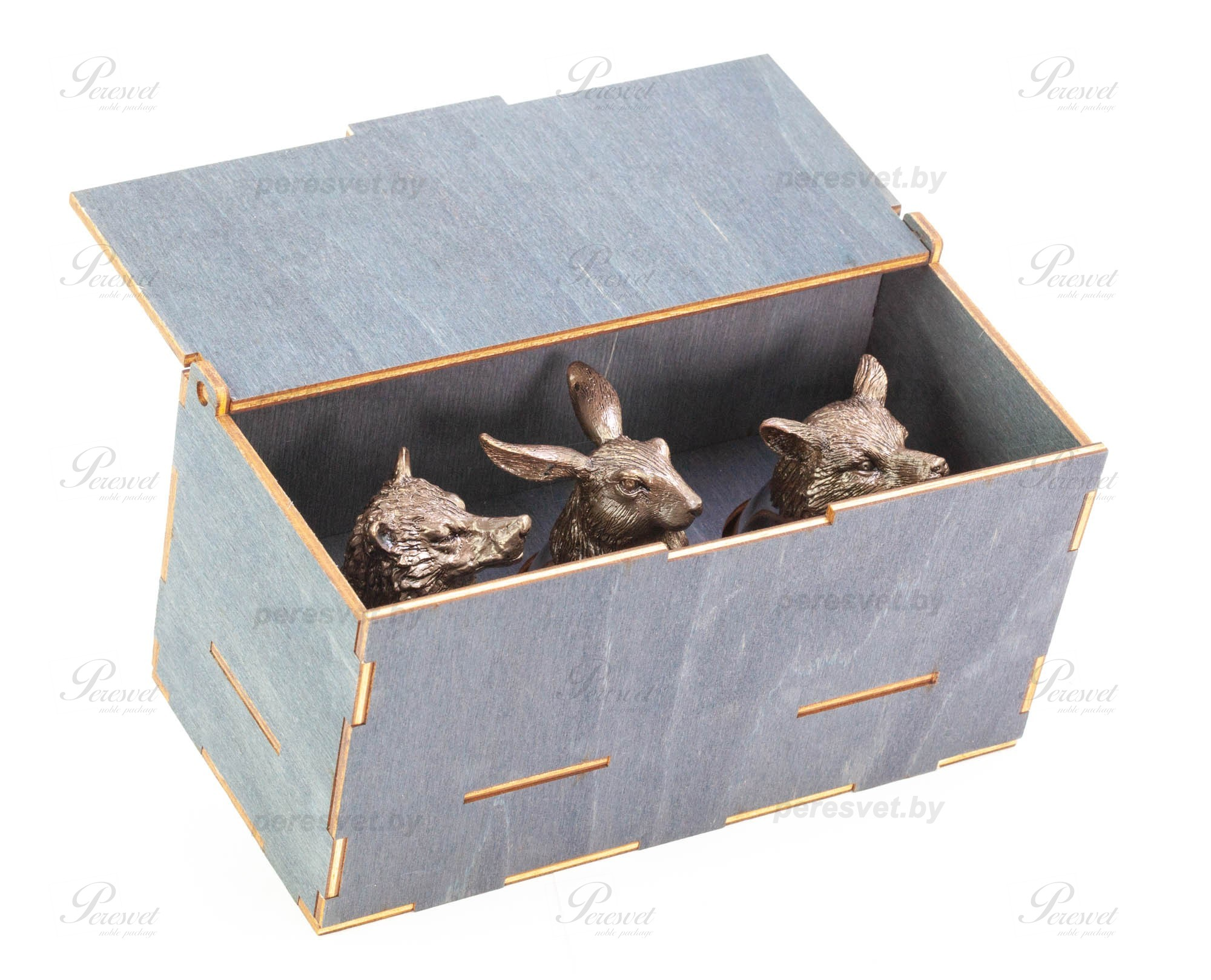 Набор рюмок перевертышей Three Premium в деревянной шкатулке на peresvet.by